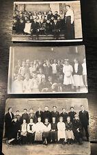 Real Photo Postcards RPOC School Children Teacher, Class Portrait LOT OF 3