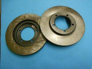 Pair Front Brake Discs For Daihatsu Feroza Rocky 4351287605 Sivar D64310
