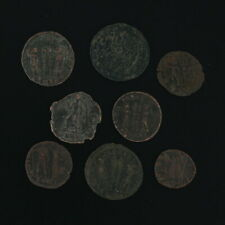 Mixed Roman Coins Lot of 8 Figural Ancient Artifacts