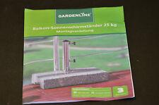 Balkon Sonnenschirm Ständer Halterung 25kg Halter Granit Schirmständer NEU