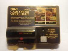 RCA Camcorder Video Light Mount including Rechargeable Battery & Charger NOS
