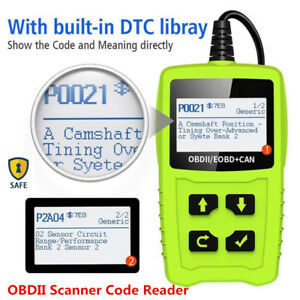 2.4''LCD OBDII Scanner Car Trouble Code Reader Diagnostic Engine Fault Scan Tool