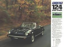 1970s Fiat 124 Sport Spider Brochure