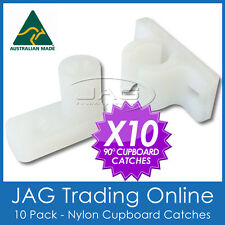 10 x 90° ANGLED NYLON CUPBOARD CATCH - Caravan/RV/Camper/Boat/Door/Drawer/Latch