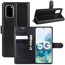 COVER per Samsung Galaxy S20 FE Custodia PORTAFOGLIO Pelle Nero Vetro Temperato