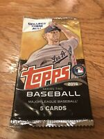TOPPS BASEBALL 2014 SERIES TWO 1 Sealed Pack. 5 Cards Per Package New. Unopened.