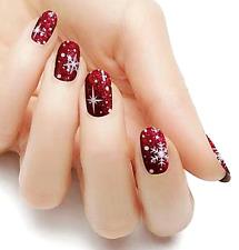 New ListingChristmas snow red white color real nail polish strips Kc317 street art wraps