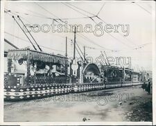 1928 Street Cars Decorated For Hirohito Coronation 1920s Japan Press Photo