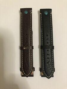 BULOVA ACCU SWISS 63A120 BROWN AND BLACK LEATHER STRAPS