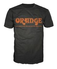 Orange Amplifiers Black Retro Logo Fitted 100% Cotton T-Shirt, Men's XXL - NEW