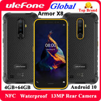 Ulefone Armor X8 4G Rugged Unlocked Mobile Phone Android 10 4GB 64GB Smartphone