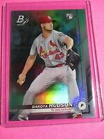 2019 Bowman Platinum GREEN Foil #'d 24/99 Dakota Hudson # 27 Cardinals RC Rookie