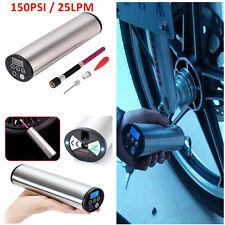 LCD Motorcycle Electric Air Compressor Inflatable Pump Tire Tyre Inflator 150PSI
