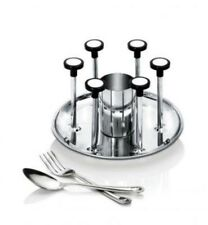 Actionware Stainless Steel Glass & Spoon Stand Deluxe Glass Stand Cutlery Stand
