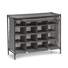 Zeller 14615 - Zapatero 16 compartimentos fieltro y metal Plástico gris ...