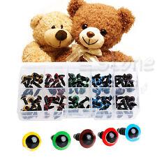 100pcs 8mm plastique Yeux de sécurité Rondelle Pour Teddy Bear Toy Doll
