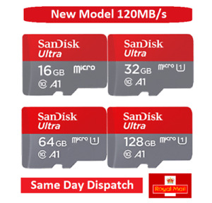 SanDisc ULTRA 32GB 64GB 128GB MICRO SD SDXC UHS-I 120MB/s MEMORY CARD / ADAPTER