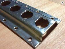 1 x 3m Q PLATE LOAD LOCK RAIL - HEAVY DUTY ZINC PLATED  - VAN STRAPPING / LINING