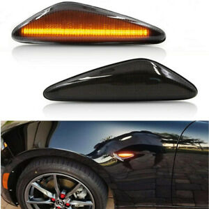 Sequential LED Side Marker Blinker Turn Signal Lights For Fiat 124 Spider 17-20