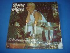 SP 45T / BETTY MARS / SI TU CONNAISSAIS PARIS / MB EMFY ER 17011 / VG++/VG++