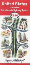 1964 ESSO HUMBLE Road Map UNITED STATES Route 66 Interstate Highways Code P264