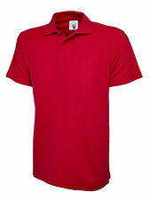 5 X Uneek Childrens Polo Shirt Kids School Top PE Unisex Boys Girls (uc103) 11 - 13 Years Red