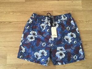 Ben Sherman Mens Beach Swim Shorts Size Medium Blue