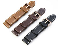 Genuine Leather Wristwatch Band Watch Strap Replacement Belt 19/20/21/22/23/24mm