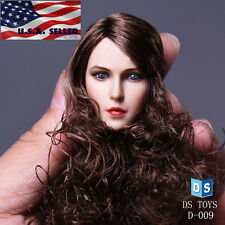 1/6 Female Head Sculpt Long Curly Hair for Phicen Hot Toys Female Figure ❶USA❶