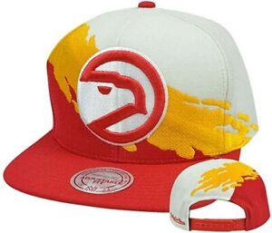 NBA Atlanta Hawks Mitchell & Ness Adult Adjustable Paintbrush Cap Hat M&N NEW!