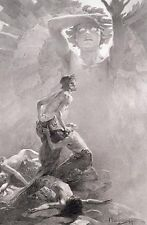 Alphonse Mucha art nouveau Final design for sixth allegorical panel CANVAS print