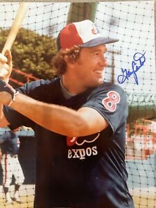 Gary Carter  Montreal Expos  Hall of Fame  Autographed Photo