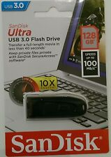 SanDisk Ultra USB 3.0 Stick 128GB 100 Mbit/s Neu & OVP schwarz (SDCZ48-128G-U46)