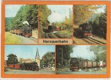 """Ansichtskarte """"Auf Schienen durch den Harz"""" - Motive Harzquerbahnen"""