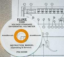 FLUKE 335D Voltage Standard & Differential Voltmeter: Manual (Ops+Service+Schem)