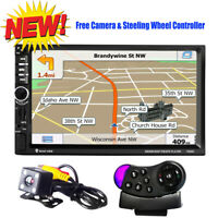"7"" 2DIN Autoradio Bluetooth GPS Stereo MP5 Player FM Radio TF USB Map + Camera"