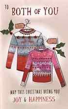 Pour vous deux embelli carte de noël fini à la main baked alaska cartes