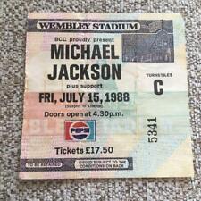 Michael Jackson ticket Wembley Stadium 15/07/88 #5341  Bad tour