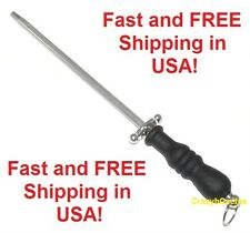 "Sharpening Steel Rod NEW 12"" Long Cutlery Slip Resistant Handle Kitchen Knife"