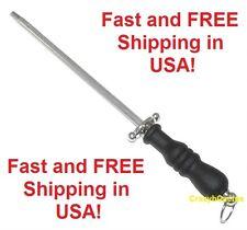 "Sharpening Steel Rod NEW 12"" Long Cutlery Slip Resistant Handle Kitchen Knife"