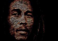 Bob Marley arte cartel impresión de música reggae singer A3 YF1112