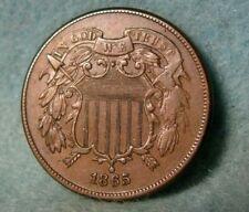 1865 Civil War Era Two Cent Piece High Grade United States Coin