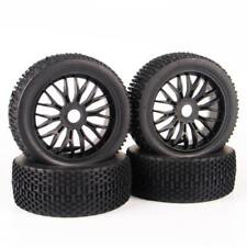 1:8 RC 4Pcs Rubber Tires&Wheel Rim 17mm Hex For Traxxas Off-Road Buggy Car