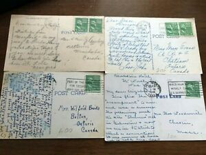 Lot George Washington 1 One Cent Stamp 1732-1932 Green Looking Right on postcard