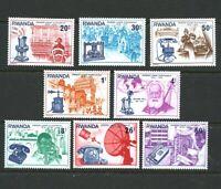 Telephone Centenary mnh set 8 stamps 1976 Rwanda #746-53