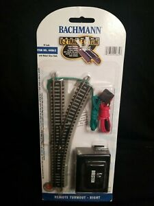 Bachmann E-Z Track System N Scale Remote Turnout Right Nickel Silver  44862