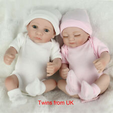 TWINS HANDMADE REBORN DOLLS REAL LIFELIKE NEWBORN BABY BOY GIRL KIDS BEST TOYS