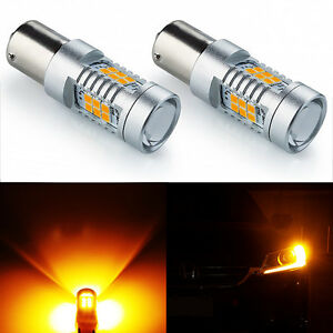 JDM ASTAR 1156 BA15S Amber PX 21-SMD 12V LED High Power Turn Signal Light Bulbs