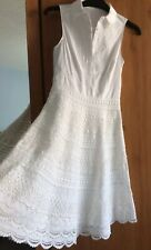 BNWOT Karen Millen Exquisite White Lace Shirt Dress Size 6