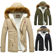 > INVIERNO Trinchera Abrigo grueso largo hombre WINTER capucha de pelo invierno